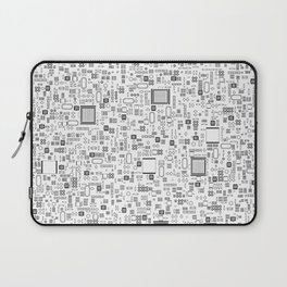 All Tech Line / Highly detailed computer circuit board pattern Laptop Sleeve