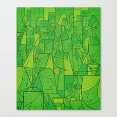 Citystreet (green version) Canvas Print