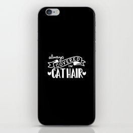 Covered in Cat Hair (Inverted) iPhone Skin