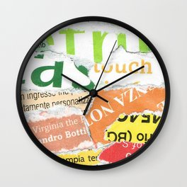 Green to Orange Wall Clock