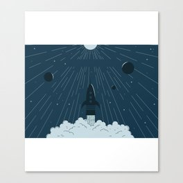 Launching To Space Canvas Print