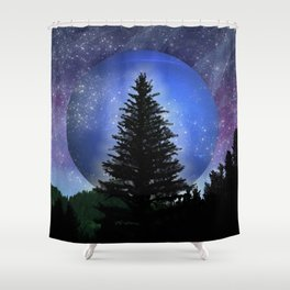 Neptune Forest Shower Curtain