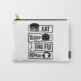 Eat Sleep Kung Fu Repeat - Martial Art Defense Carry-All Pouch