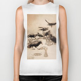 """""""The Seven Ravens"""" by Arthur Rackham From The Grimm Brothers Biker Tank"""