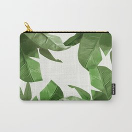 Tropical Palm Print Treetop Greenery Carry-All Pouch