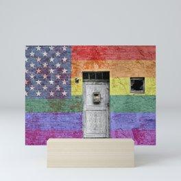 American LGBTQ Pride Flag Mini Art Print
