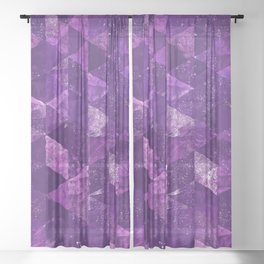 Abstract Geometric Background #35 Sheer Curtain