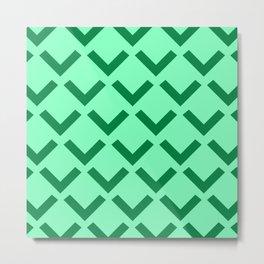 Geometry No. 3 -- Seafoam Metal Print