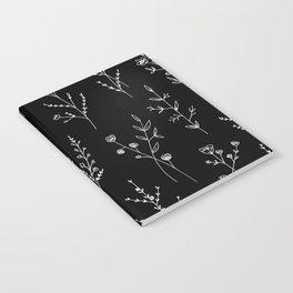 New Black Wildflowers Notebook