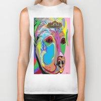 rottweiler Biker Tanks featuring Lady Rottweiler by EloiseArt