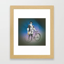 Every weekend I take the fixed gear to the farmers market for Vegan Artisan Granola. Framed Art Print