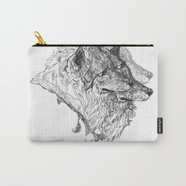 Cerberus Black and White Carry-All Pouch