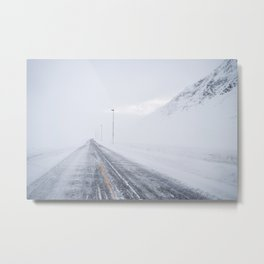 Norway landscape in winter Metal Print