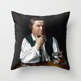 Paul Revere Portrait - John Singleton Copley 1768 Throw Pillow