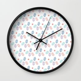 New Year, Christmas design, Red Star and Inverted ⵣ pattern, Tifinagh Wall Clock