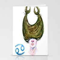cancer Stationery Cards featuring Cancer by Aloke Design