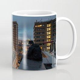 London, sitting on the edge Coffee Mug