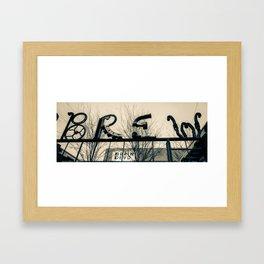Deep Ellum Metal Brew Pub Art - Dallas Sepia Framed Art Print