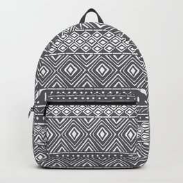 African Mud Cloth // Charcoal Backpack
