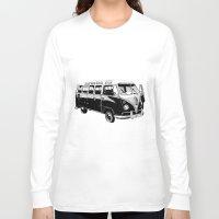 volkswagen Long Sleeve T-shirts featuring Volkswagen Bus by Michael Blaze