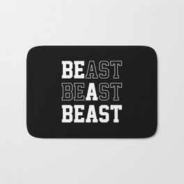 Be A Beast Bath Mat