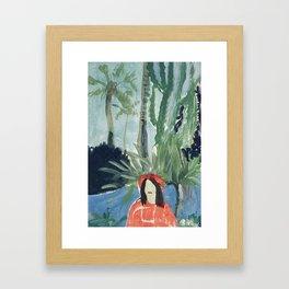 AUTOPORTRAIT DANS LES JARDINS DE LA PETIT AFRIQUE À MONACO. Framed Art Print