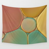 stained glass Wall Tapestries featuring 'Stained Glass' by Cora Niele