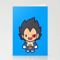 vegeta Stationery Cards featuring FunSized Vegeta by Papyroo