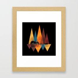 Nature Guitar - Triangles I Framed Art Print