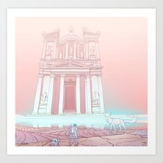 Temple of Reflection Art Print