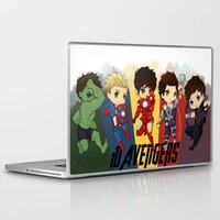 1d Laptop & iPad Skins featuring 1D Avengers by RockitRocket
