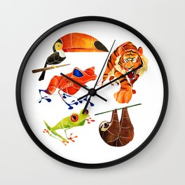 Rainforest animals 2 Wall Clock