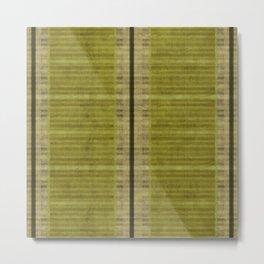 """""""Simple Oriental Curtains (Green)"""" Metal Print"""