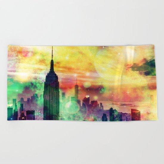 New York Fantasy Beach Towel