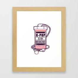 KPOP is my medicine Framed Art Print