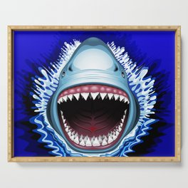 Shark Jaws Attack Serving Tray
