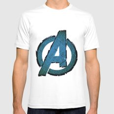 UNREAL PARTY 2012 AVENGERS LOGO FLYERS Mens Fitted Tee White MEDIUM