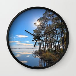 Blackwater Sunburst Marsh Wall Clock