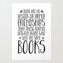 Bookish Friendships Art Print