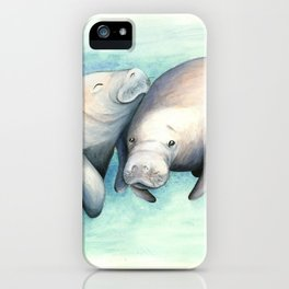 Manatee Love iPhone Case
