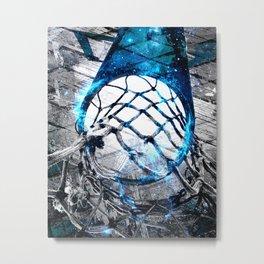 Basketball art swoosh vs 46 Metal Print