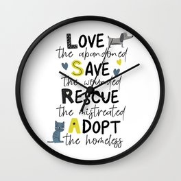 Rescue Animals Wall Clock