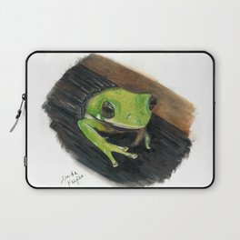 Peekaboo Tree Frog Laptop Sleeve