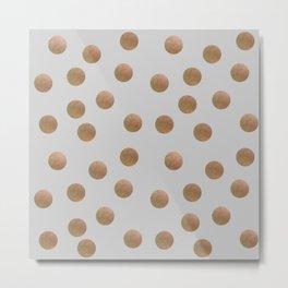 Copper Dots Metal Print