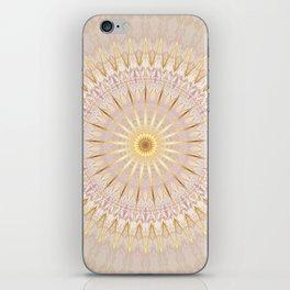 Beige Gold Mandala Medallion iPhone Skin