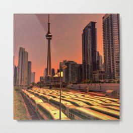 Go Trains Waiting for Rush Hour Metal Print