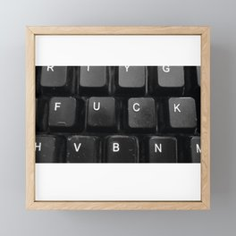 FUCK F*UCK Framed Mini Art Print