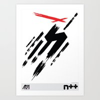 ninja Art Prints featuring Ninja by Metanet Software