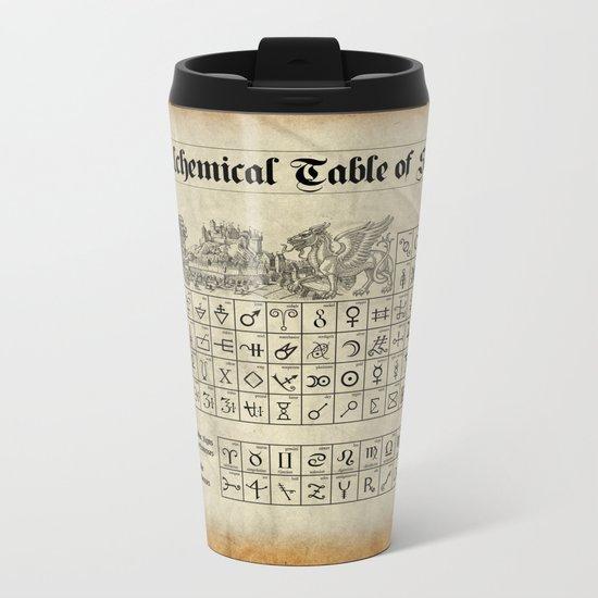 The Alchemical Table of Symbols Metal Travel Mug