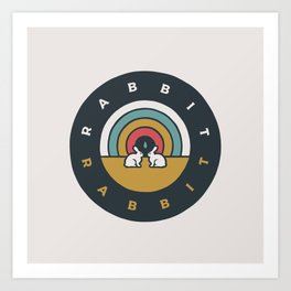 Rabbit Rabbit Rainbow Art Print